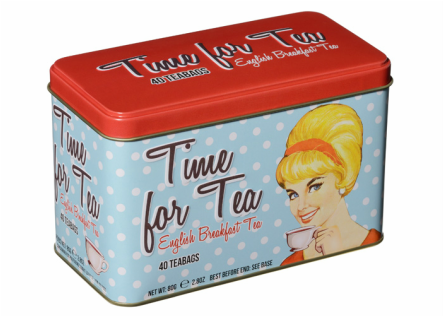 Time for Tea English Breakfast Tea Tin