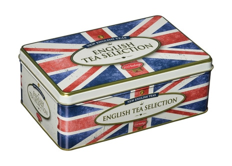 TT28 100 Teabag Tin English Tea Selection Union Jack Design