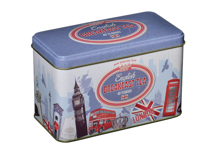 RS35 Vintage London English Breakfast 40 Teabag Tin